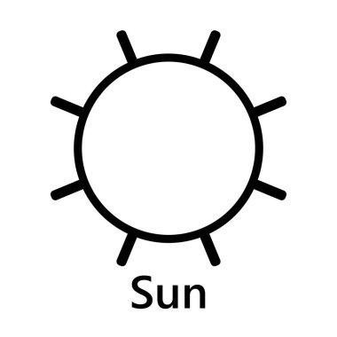 Sun symbol rotate join black text