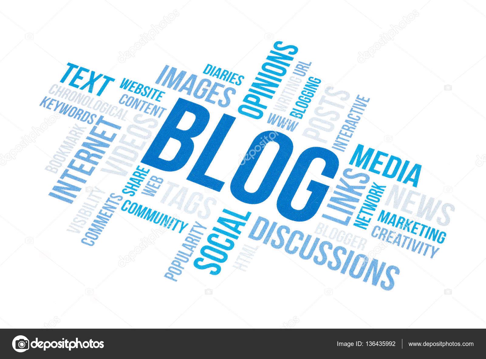 Nuvem De Conceito Blog Imprimir Documento Fotografias De Stock