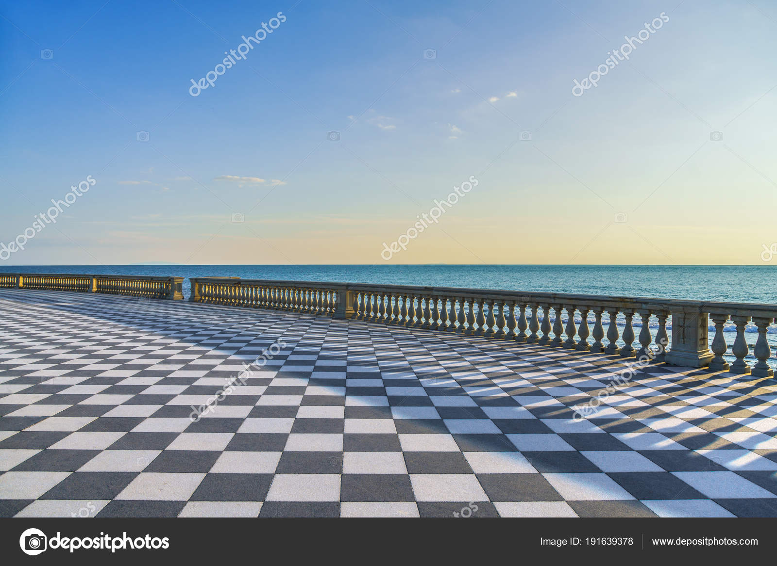 Mascagni Terrazza Terrace At Sunset Livorno Tuscany Italy