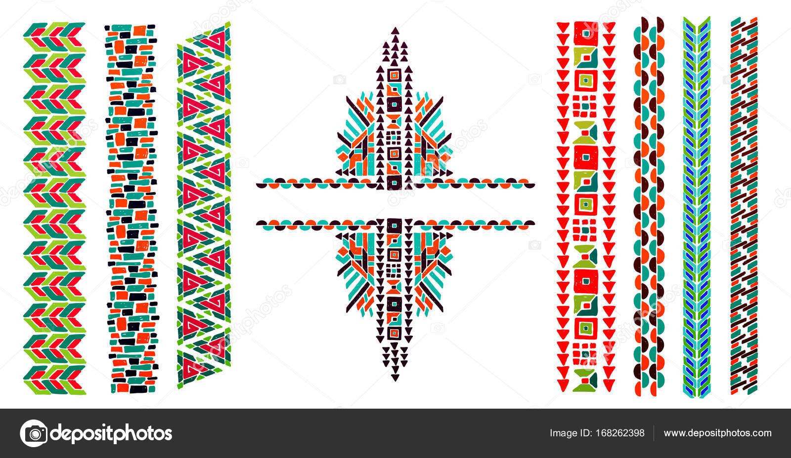 Joyas estilo azteca | Cuello está bordado con un granos de estilo ...