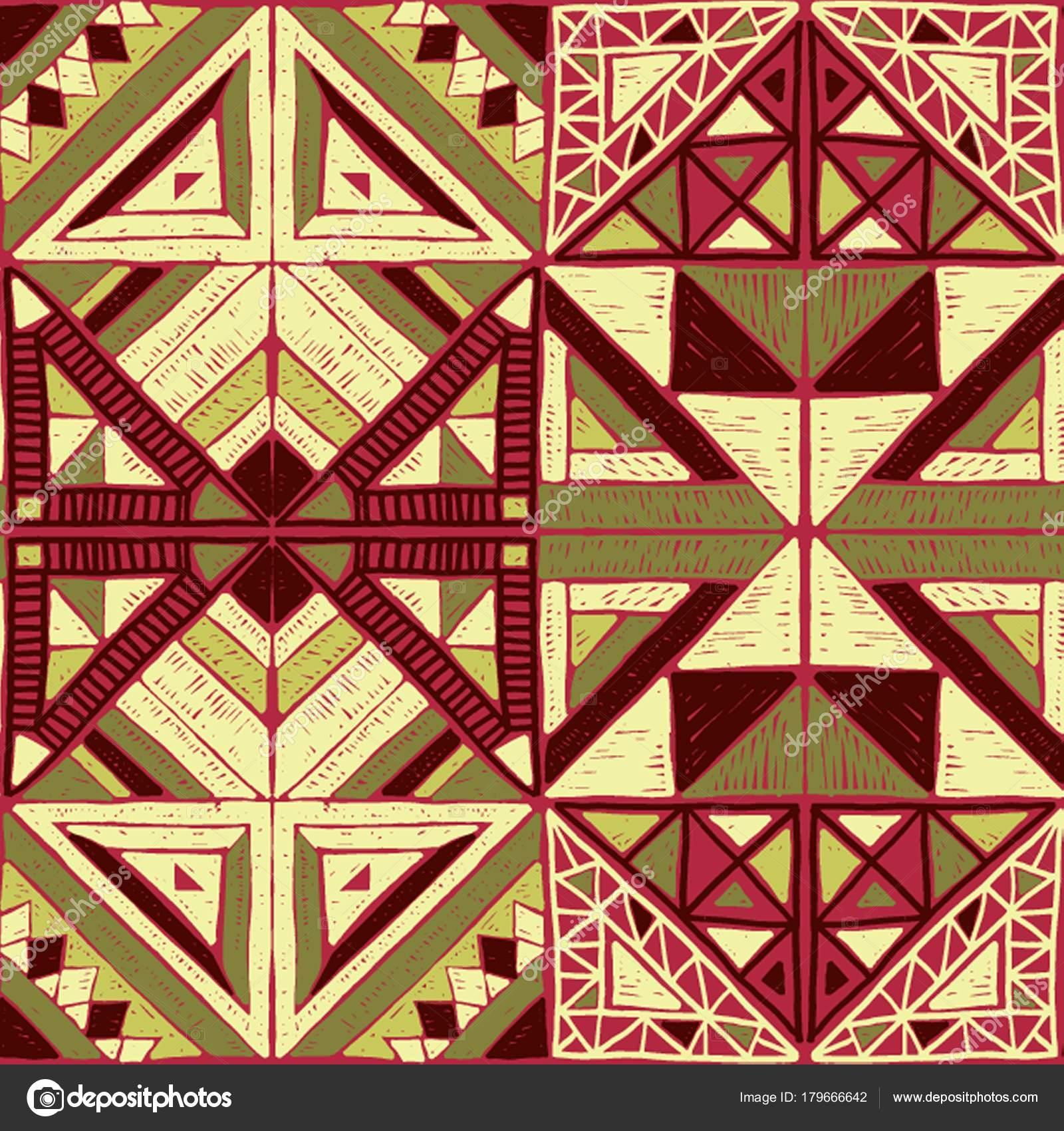 Sin fisuras patrón africano. Adornos étnicos en la alfombra. Estilo ...