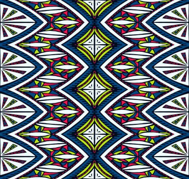 Geometric folklore ornament. Tribal ethnic vector texture. Seamless striped  pattern in Aztec style.