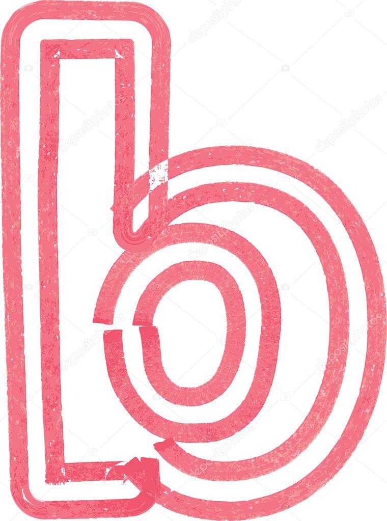 Kleinbuchstabe B Zeichnen Mit Roten Marker Stockvektor Aroas