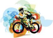 Náčrt aktivní zóny muže na kole