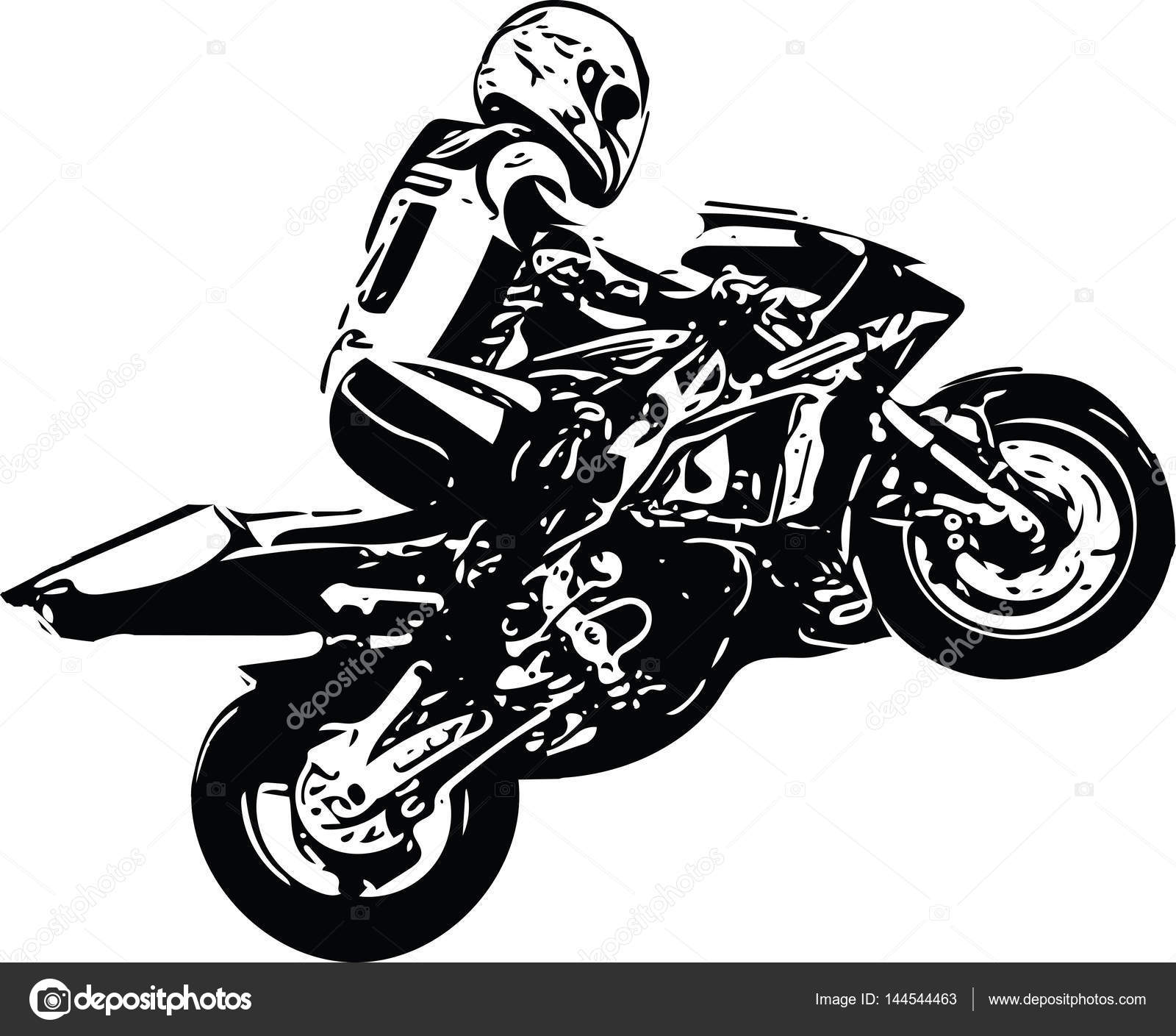 Abstract Ilustration Of Extreme Motocross Racer By Motorcycle U2014 Vector By  Aroas