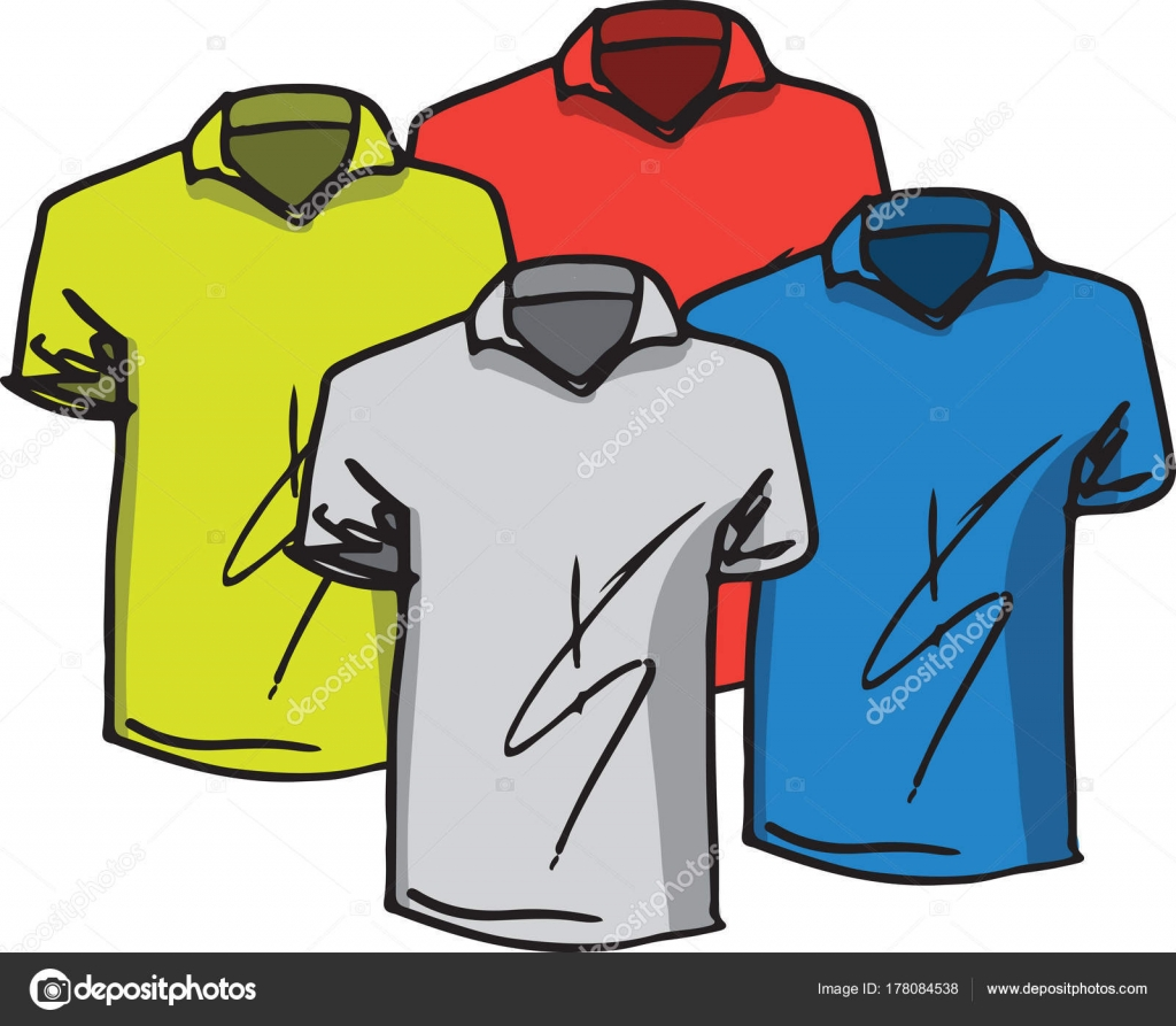 43958cdae88b Διάνυσμα t-shirts πρότυπα — Διανυσματικό Αρχείο © aroas  178084538