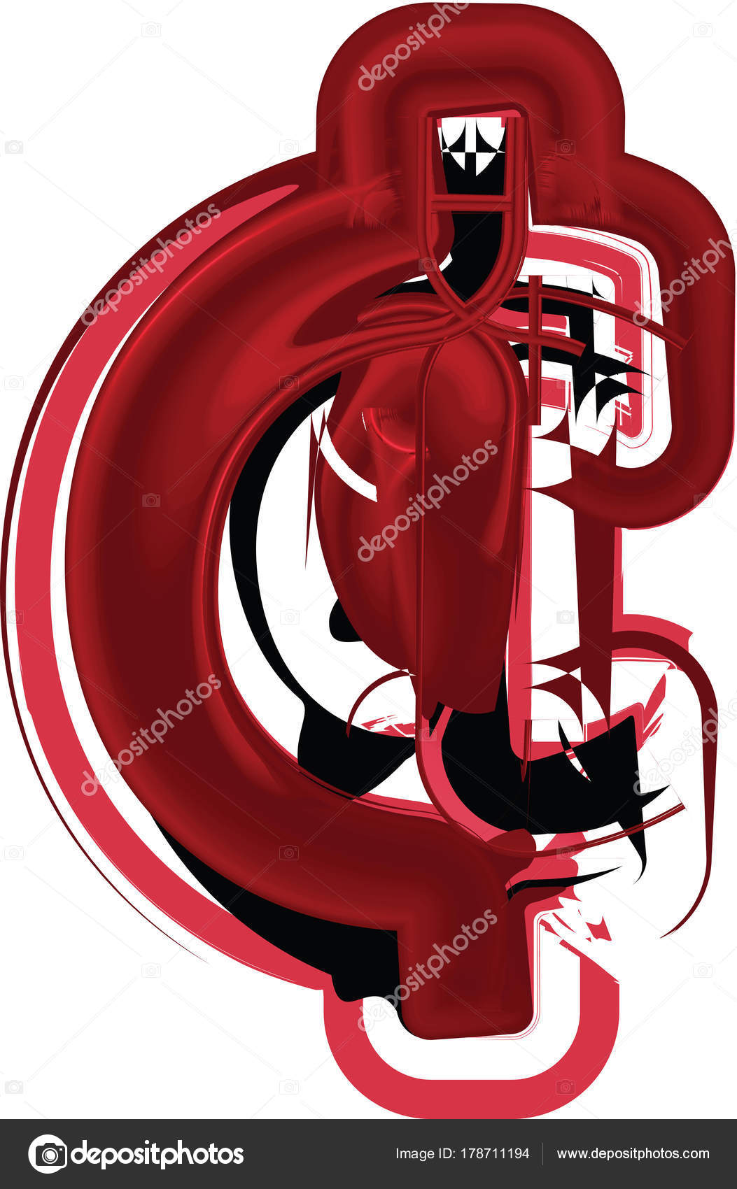 Abstract Cent Symbol Stock Vector Aroas 178711194