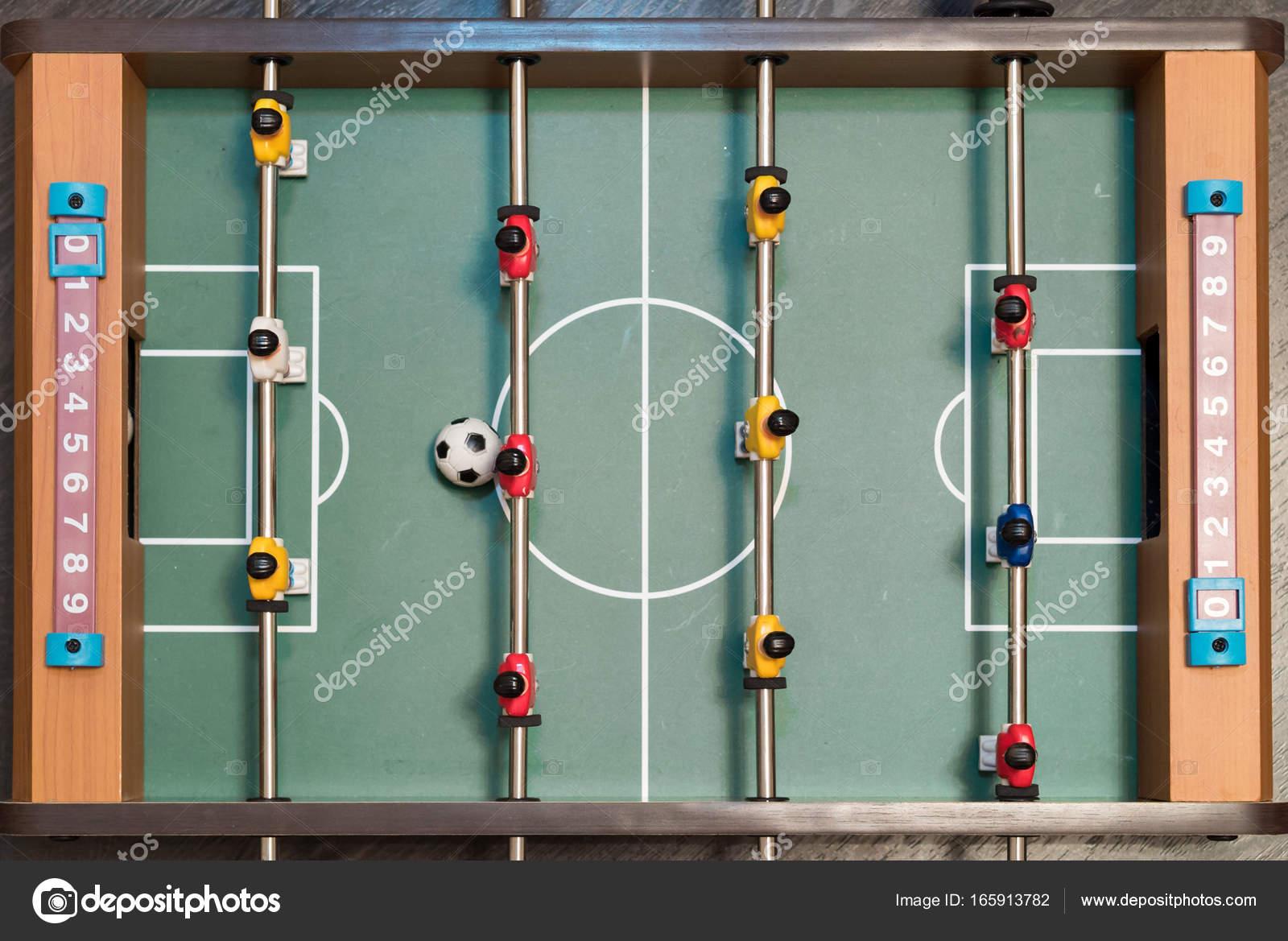 Juego De Futbol De Mesa 3d Primer Plano De Vista Superior Juego De