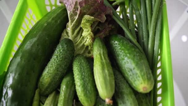 Čerstvá zelenina v košíku detail
