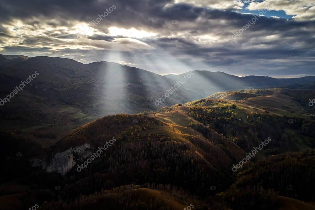 Carpathian mountains countryside