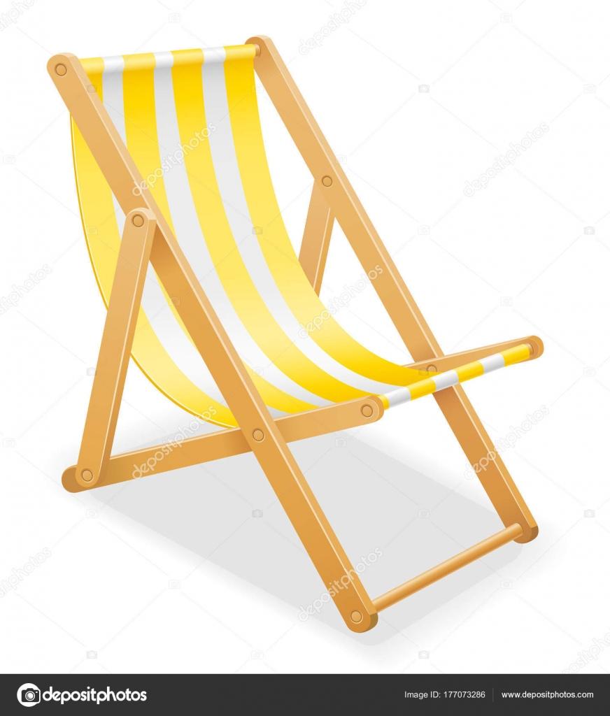Tessuti Per Sedie A Sdraio.Sedia A Sdraio Spiaggia Fatta Di Legno E Tessuto Vettoriali Stock