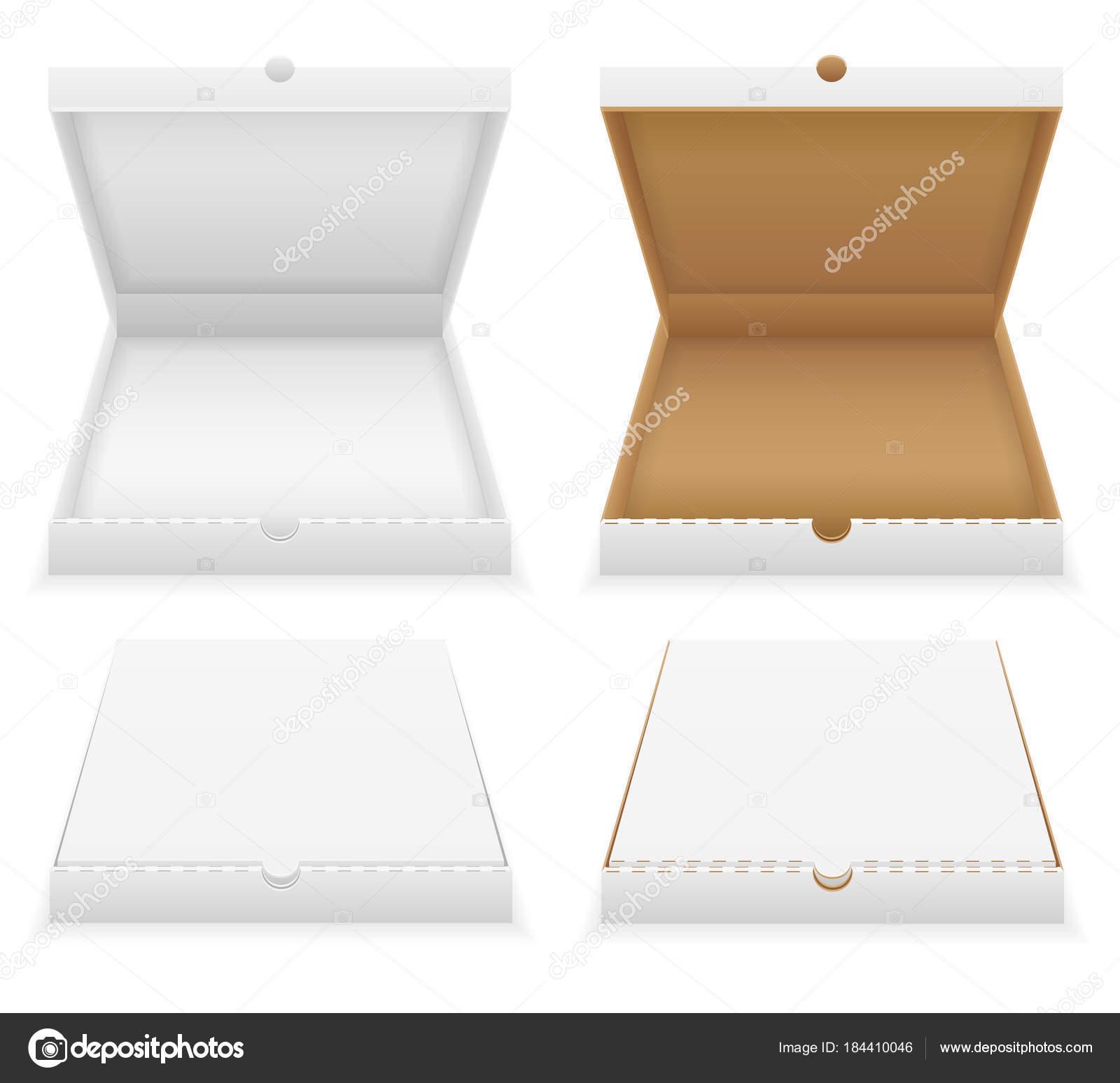 Ilustración de vector stock cartón pizza caja plantilla vacía ...