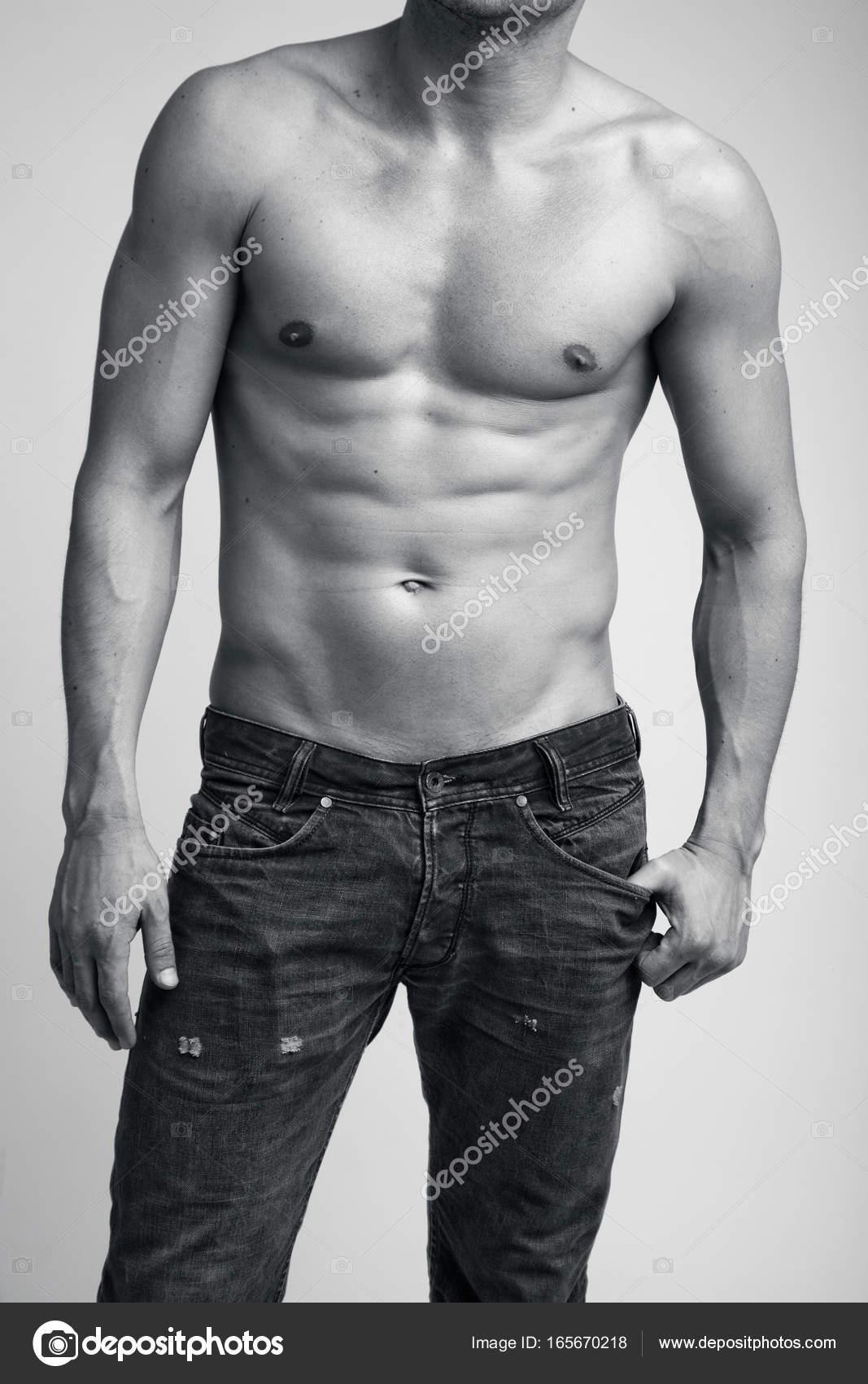 Male nude torso
