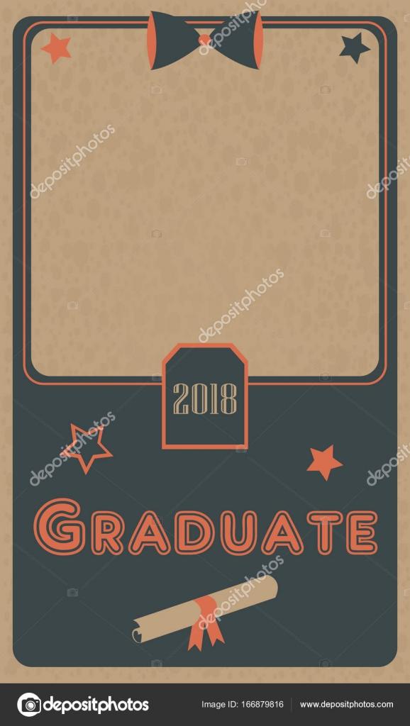 Foto de graduación 2018 marco. Ceremonia de graduación. Diseño plano ...