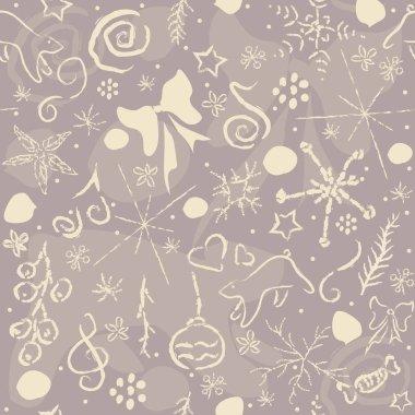 Cute Hand Drawn Winter Pattern. Seamless Pattern.