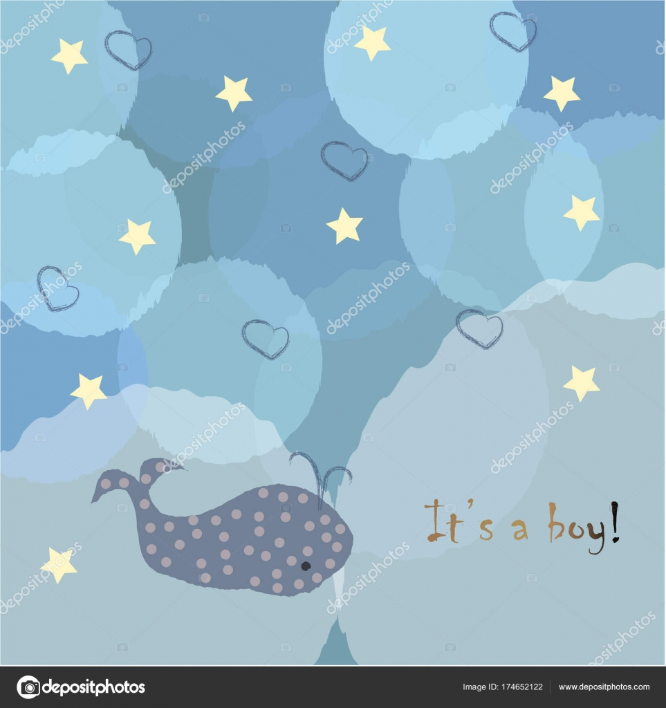 baby boy birth announcement baby shower invitation card stock