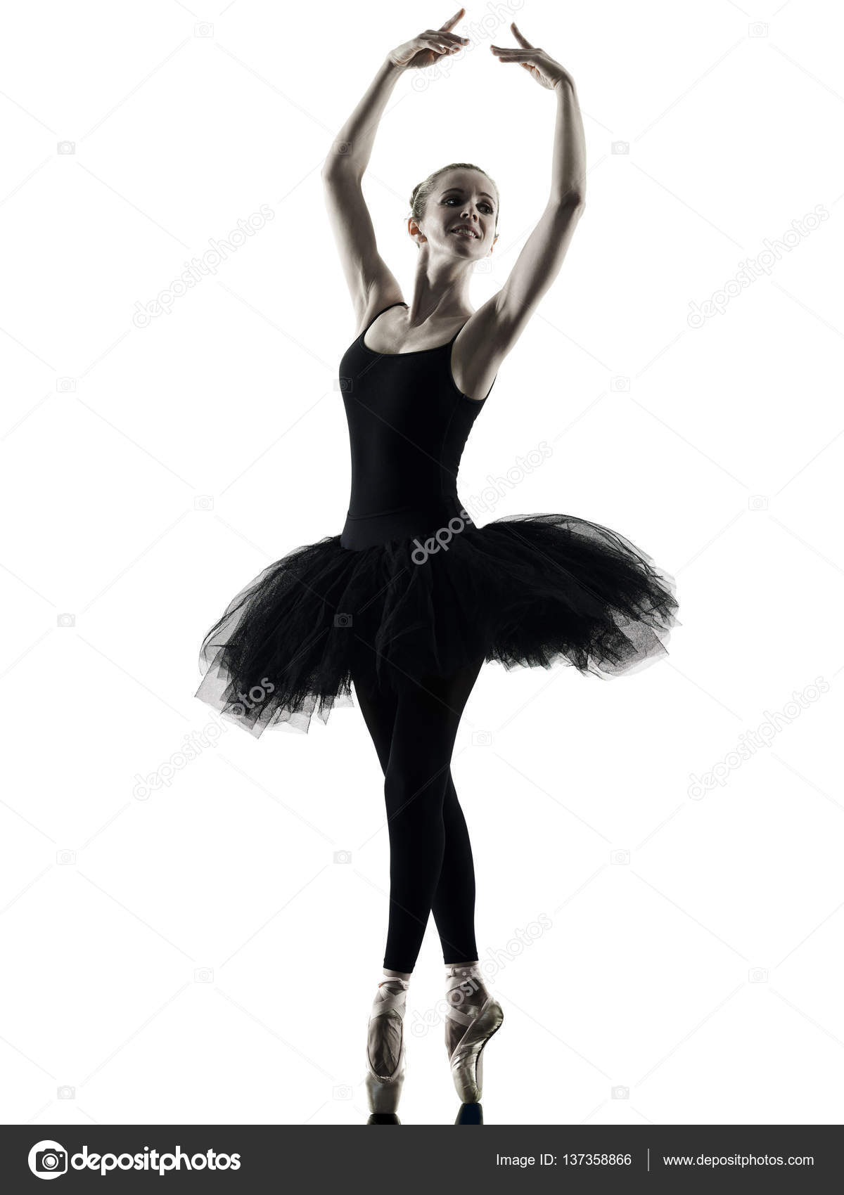 ballerina t nzerin tanzen frau isoliert silhouette. Black Bedroom Furniture Sets. Home Design Ideas