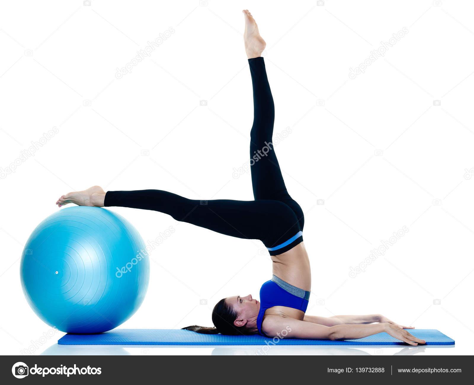 fitness mulher isolados de exerc cios de pilates stock photo stylepics 139732888. Black Bedroom Furniture Sets. Home Design Ideas