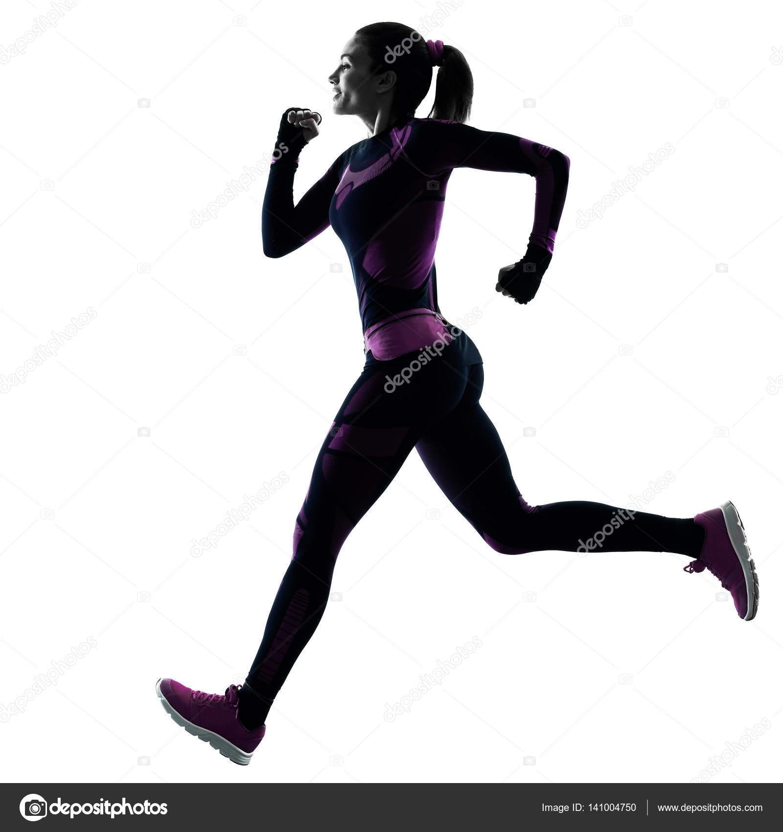 corredor de mulher correndo corredor correr isolado sombra de