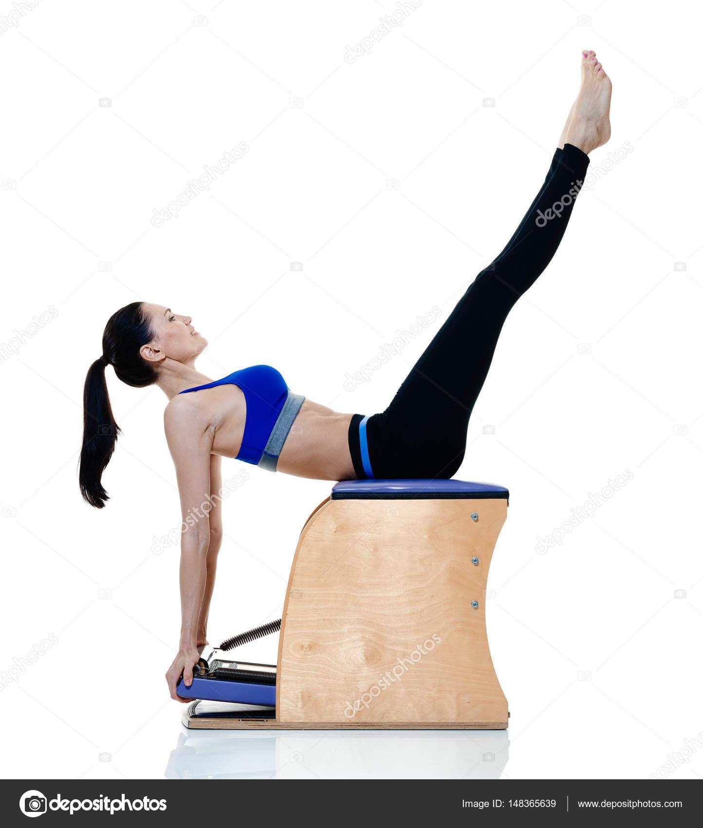 fitness mulher isolados de exerc cios de pilates stock photo stylepics 148365639. Black Bedroom Furniture Sets. Home Design Ideas