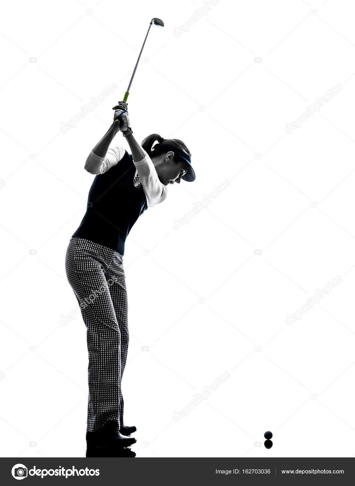 Woman Golfer Golfing Silhouette Stock Photo C Stylepics 162703036