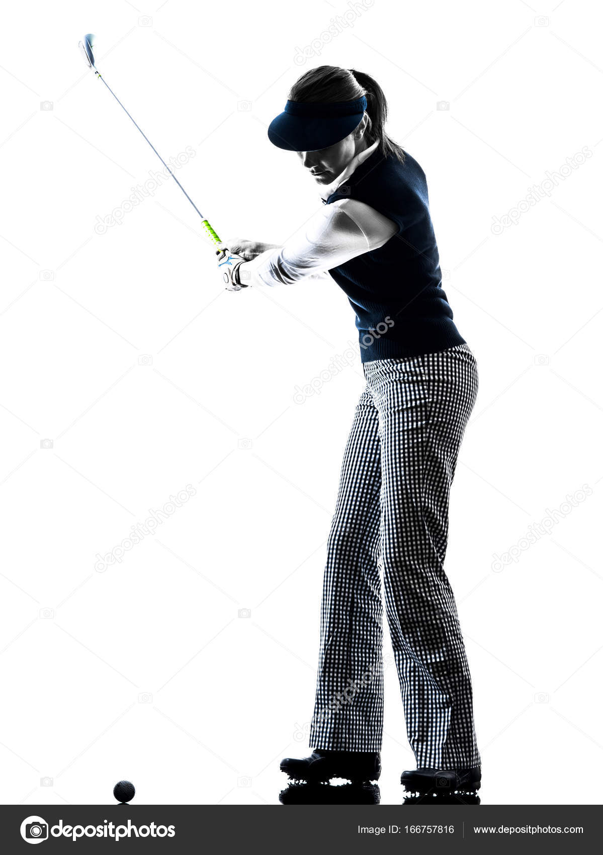 Woman Golfer Golfing Silhouette Stock Photo C Stylepics 166757816