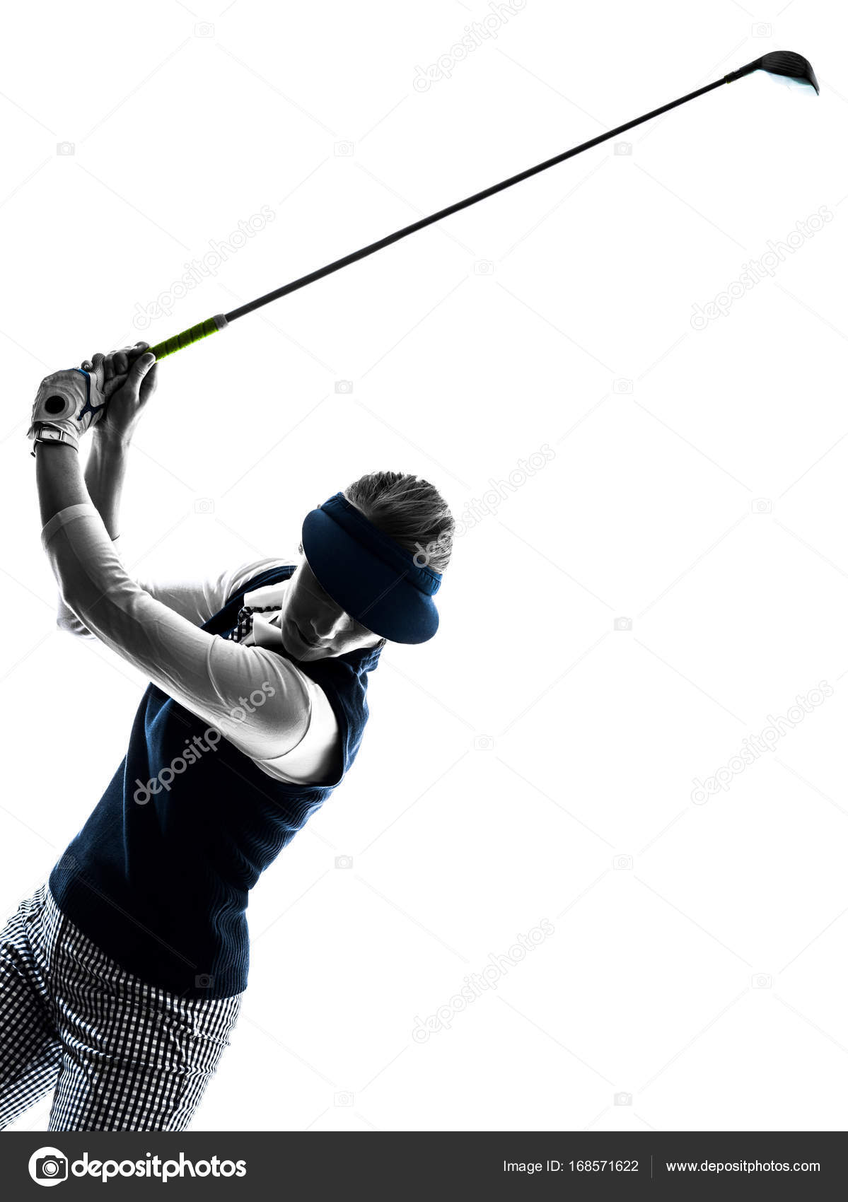 Woman Golfer Golfing Silhouette Stock Photo C Stylepics 168571622