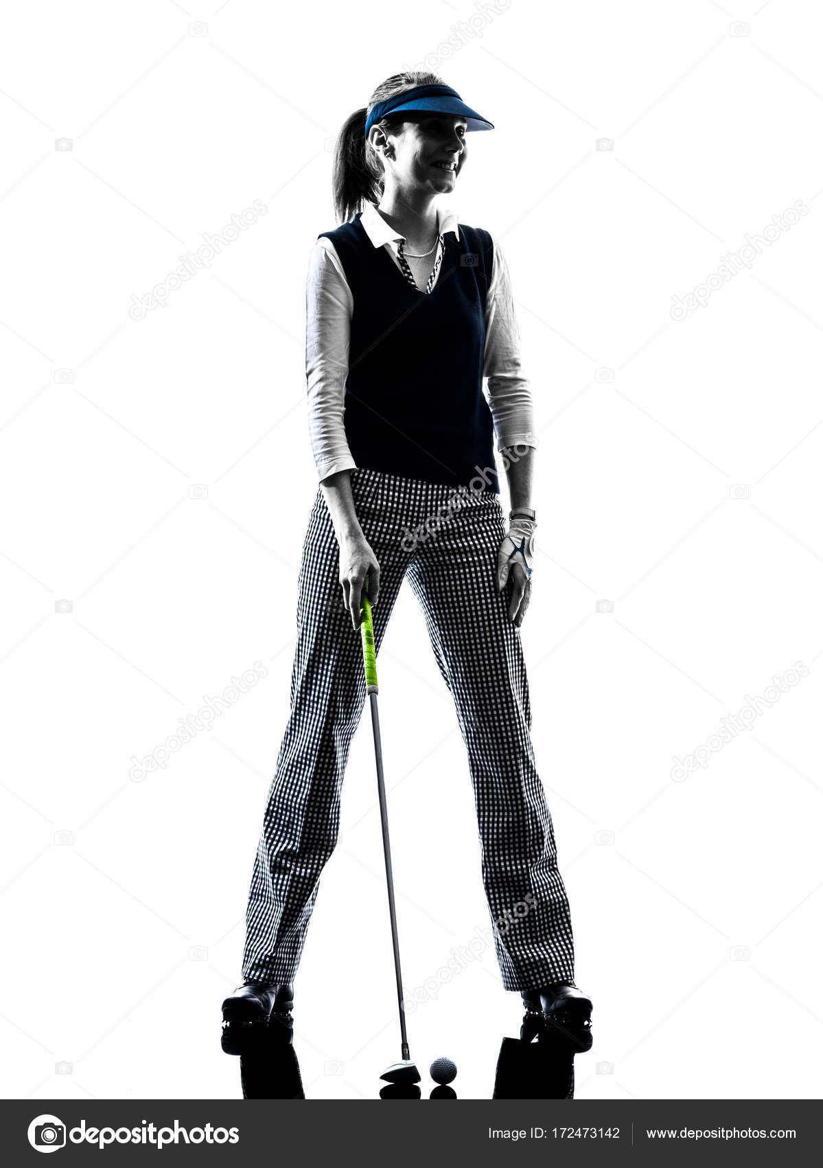 Golf Silhouette Frau Golfspieler Stockfoto C Stylepics 172473142