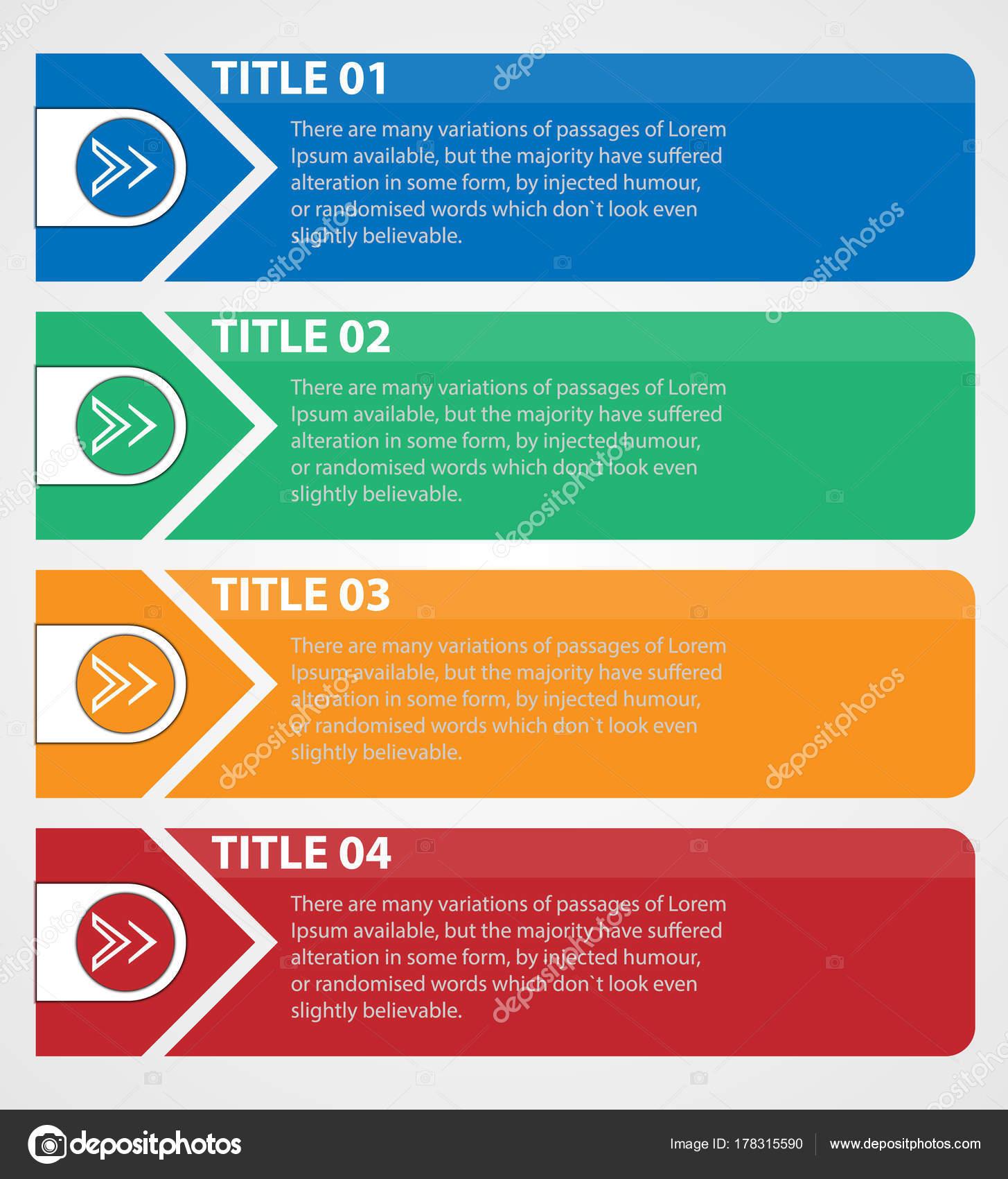 Infografik Elemente Vorlage Für Text Farbe Rahmen Für Text ...
