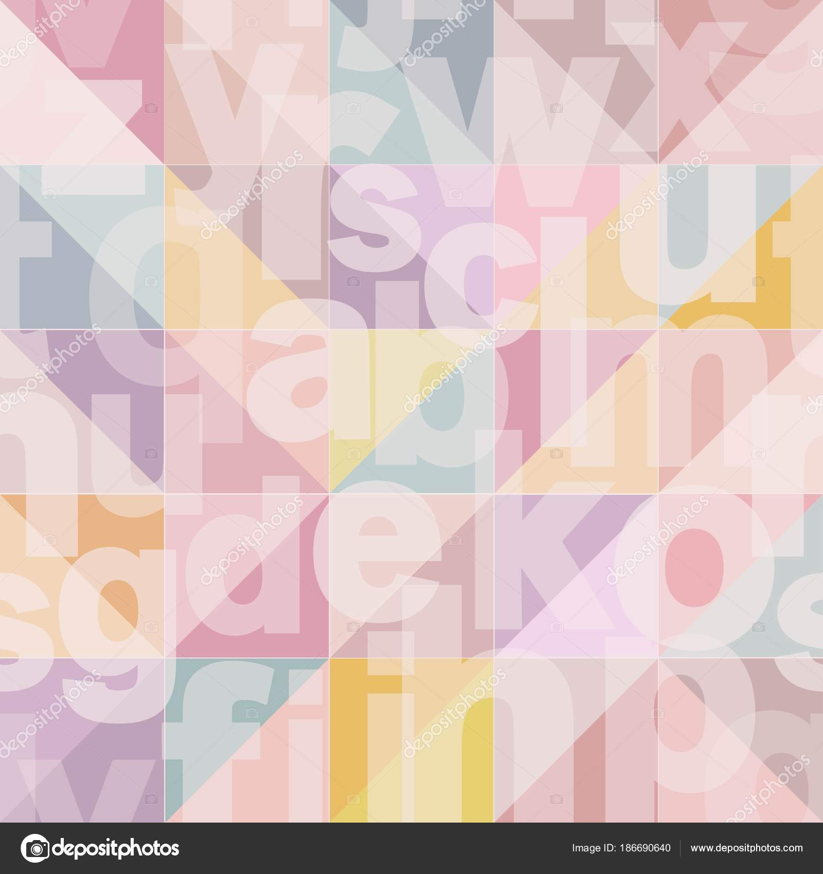 Geometric seamless pattern with transparent letters in fashion ...