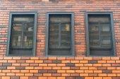 Téglafal, windows, építészeti tervezés, épület belső
