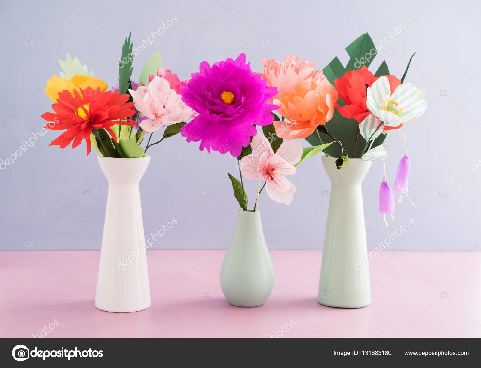 Handmade Paper Flowers Stock Photo Ecoelfen 131683180