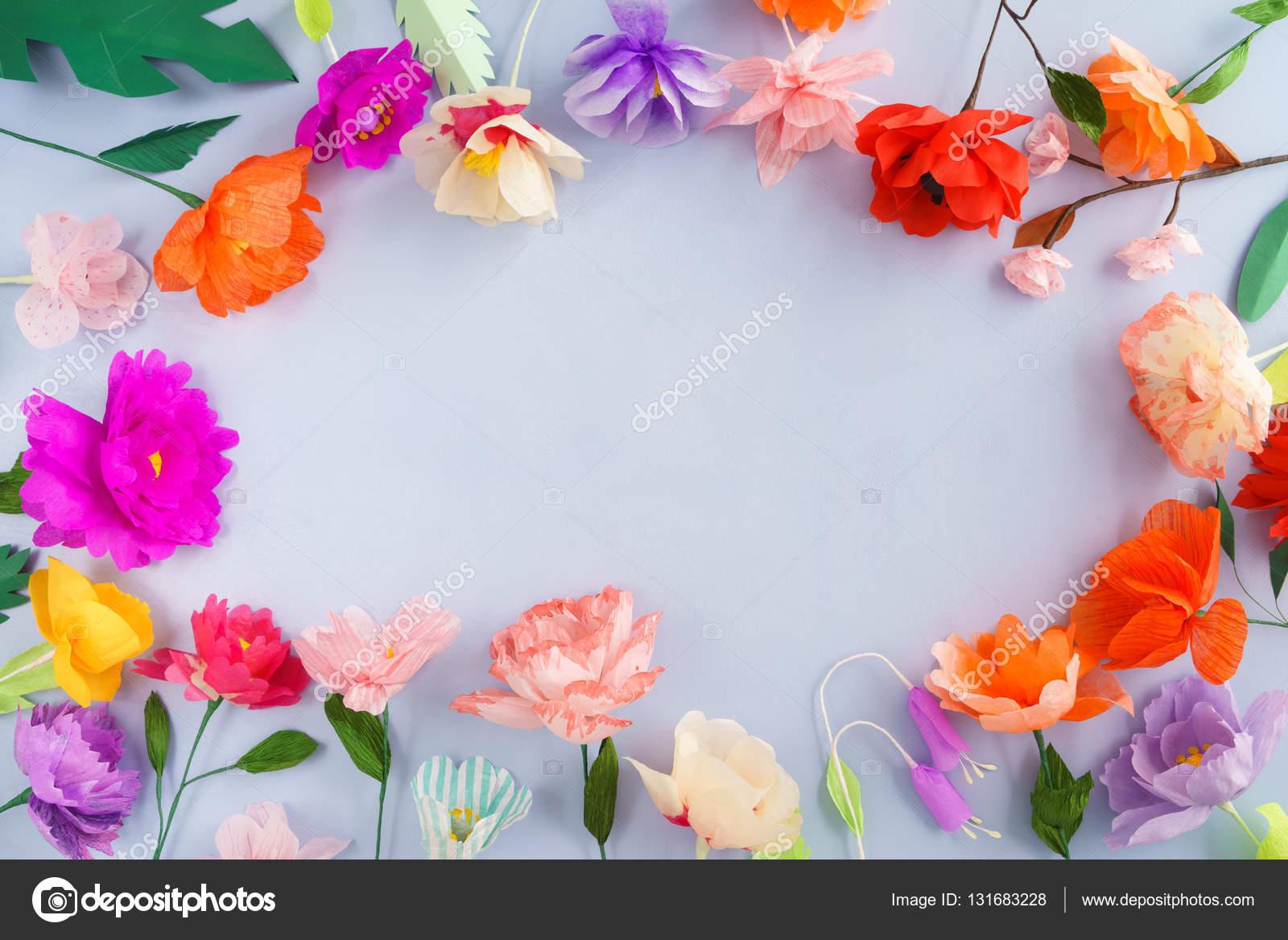 Handmade Paper Flowers Stock Photo Ecoelfen 131683228