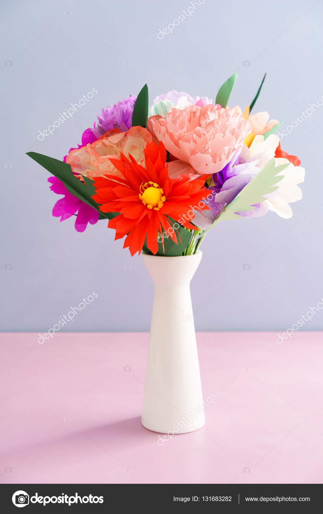 Handmade Paper Flowers Stock Photo Ecoelfen 131683282