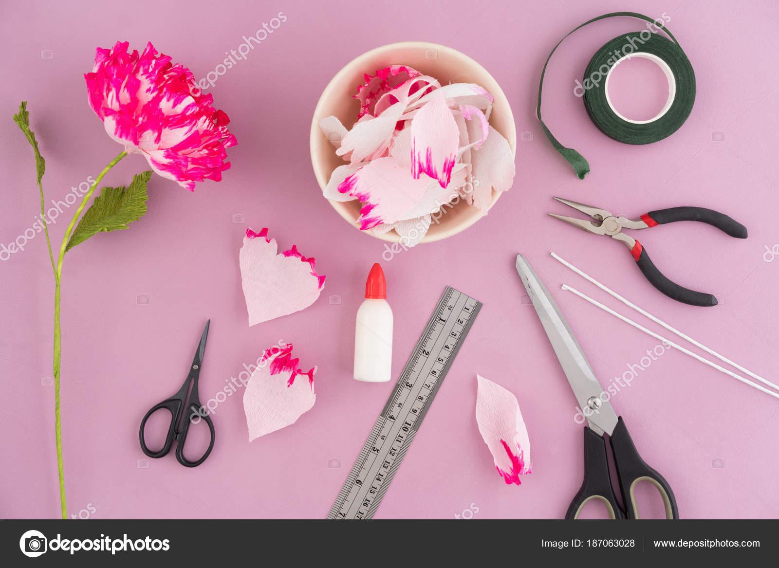 Making Paper Flowers Stock Photo Ecoelfen 187063028