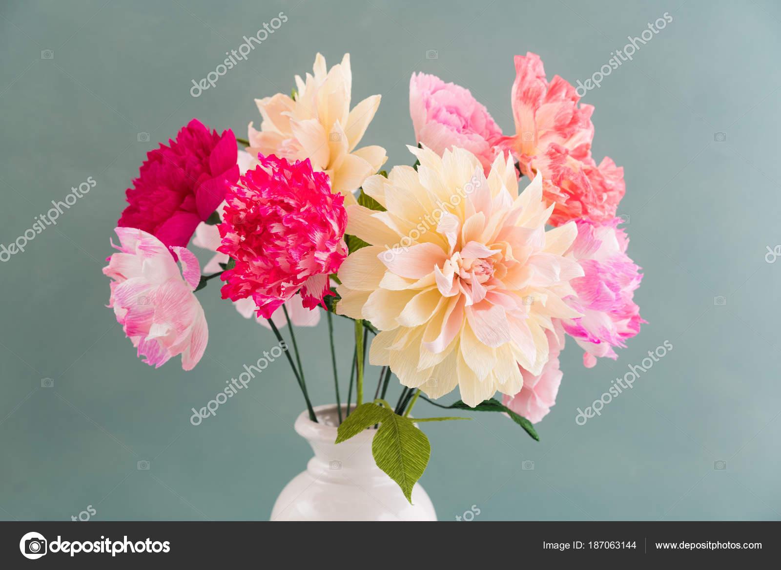 Crepe Paper Flower Bouquet Stock Photo Ecoelfen 187063144