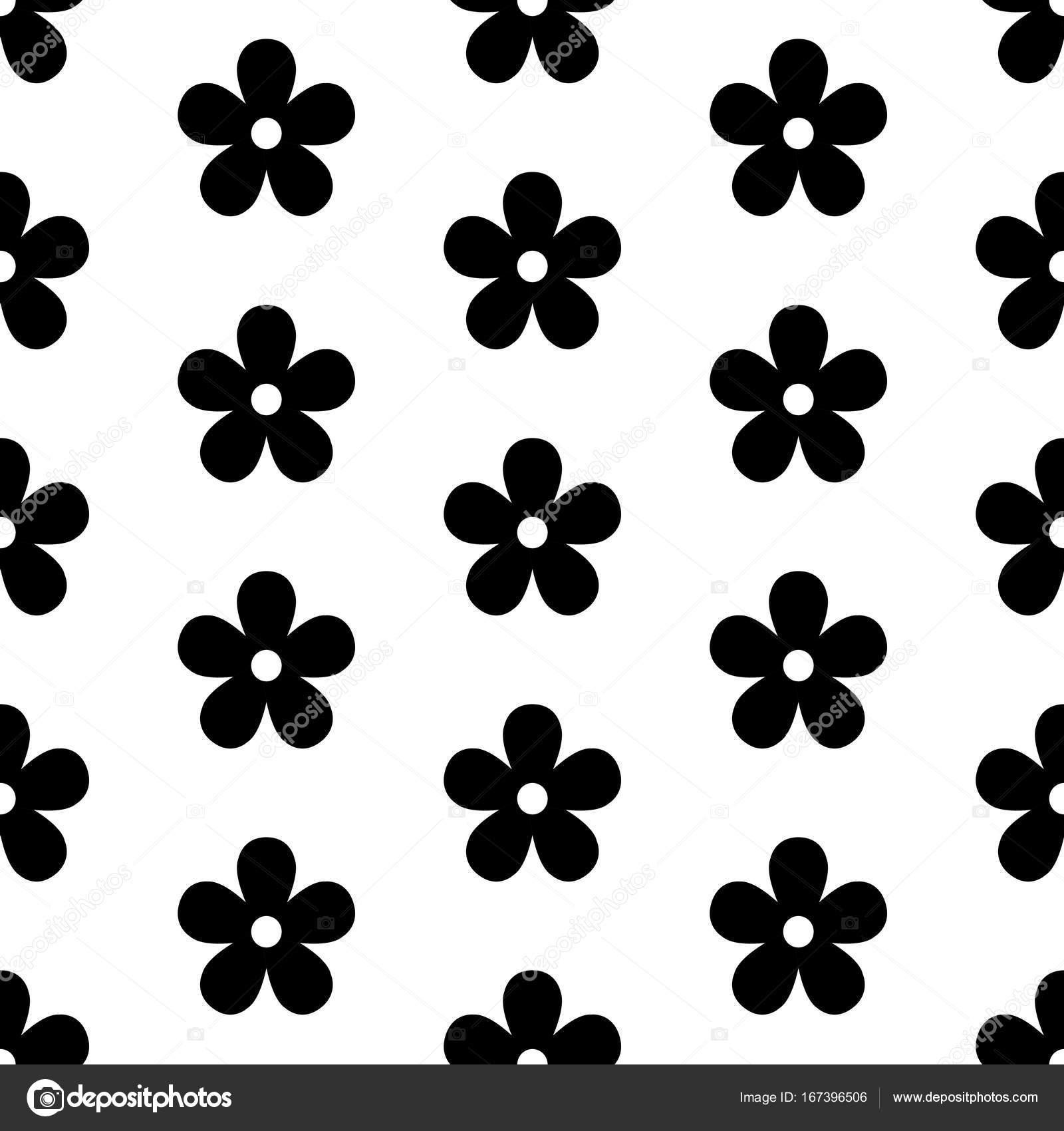 Japonés de patrones sin fisuras con flores negras — Vector de stock ...
