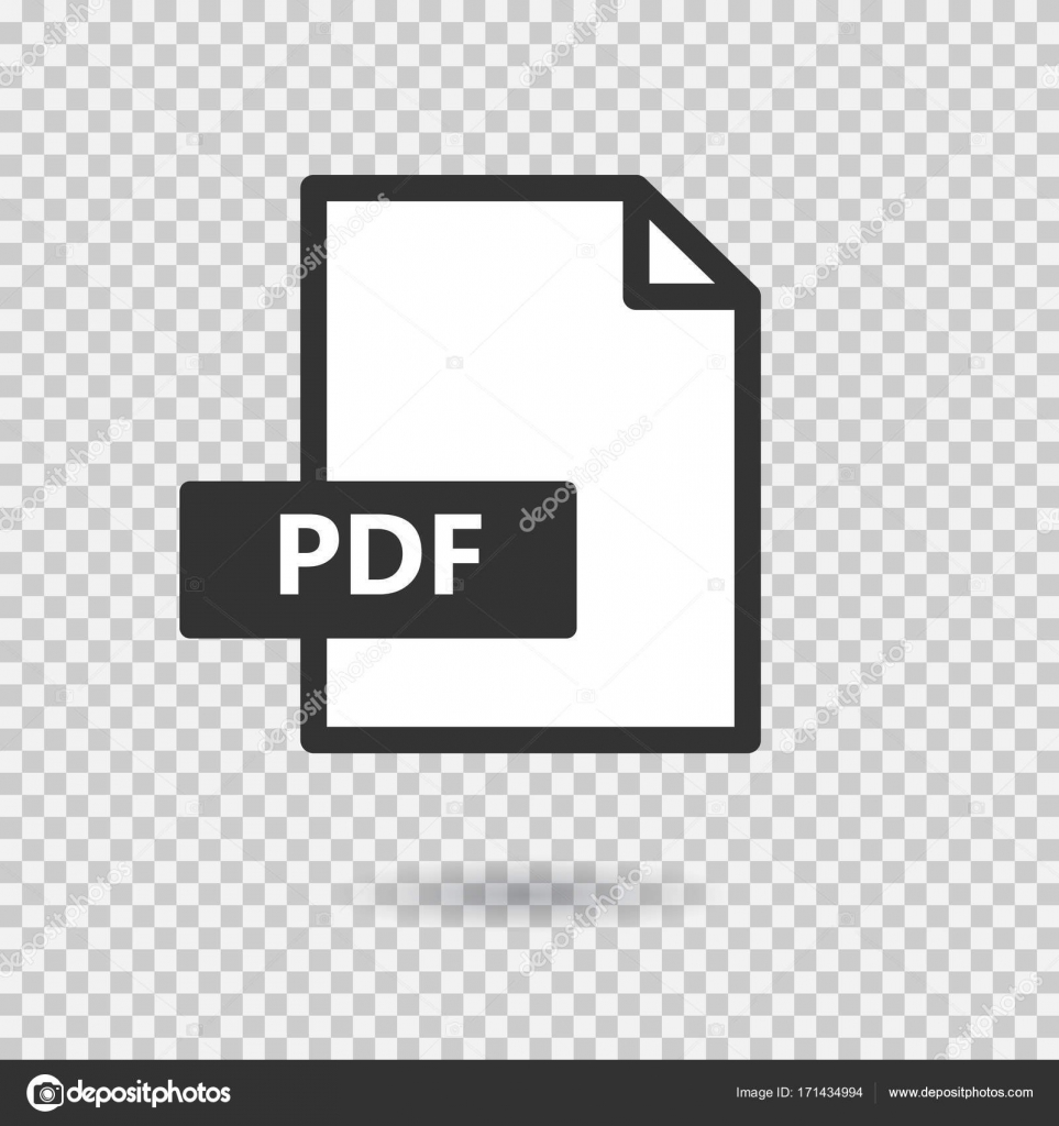 Pdf Simple Vector Icon On Transparent Background Loading Format