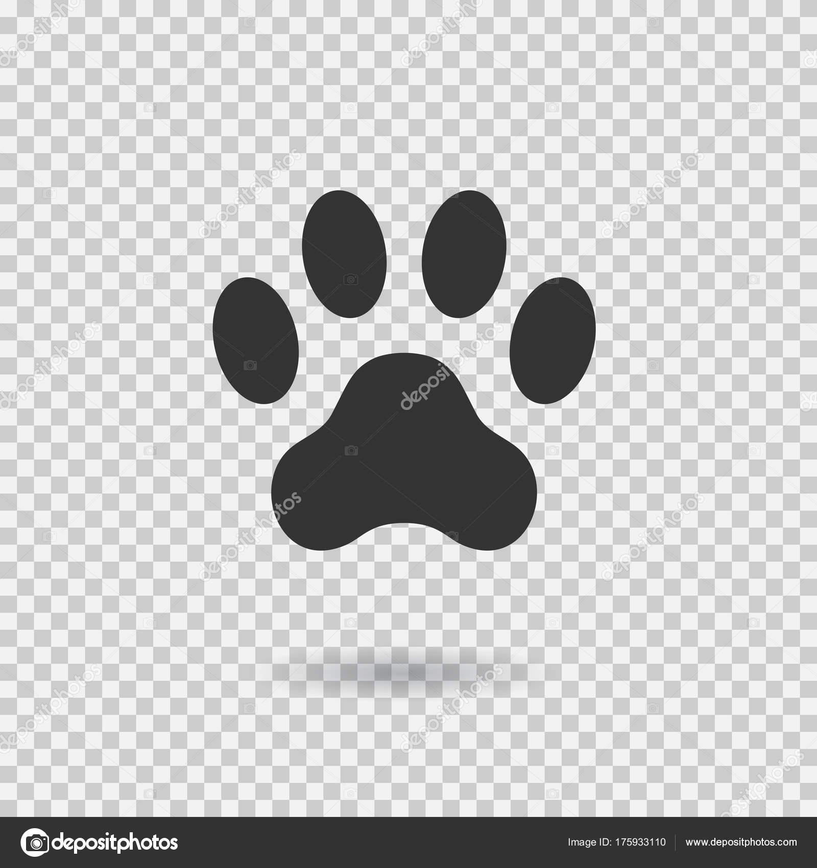 Animaux Patte Imprimée Patte De Chien Avec Une Ombre Icône