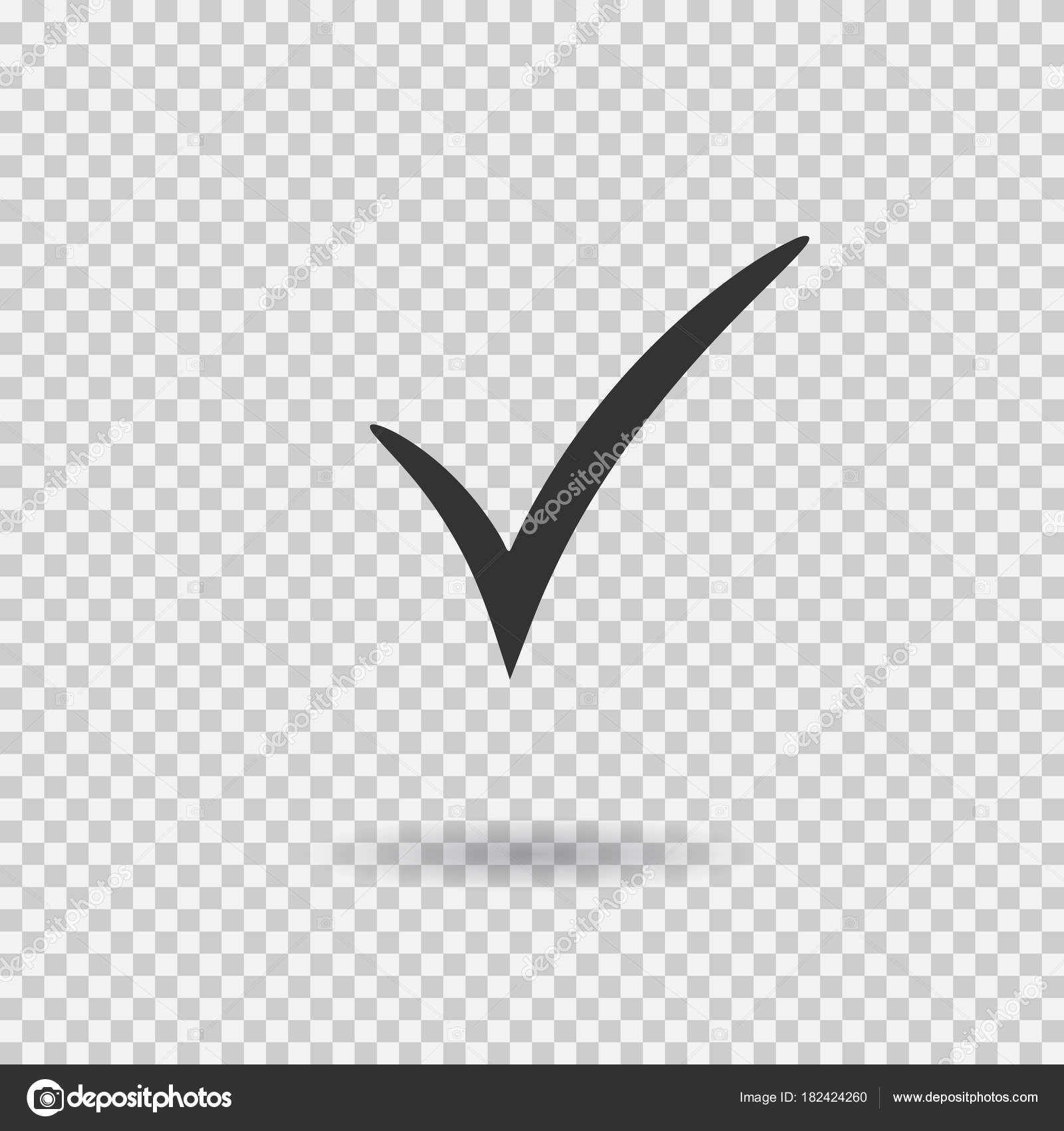 Check mark icon  Vector checkmark button  Tick symbol — Stock Vector