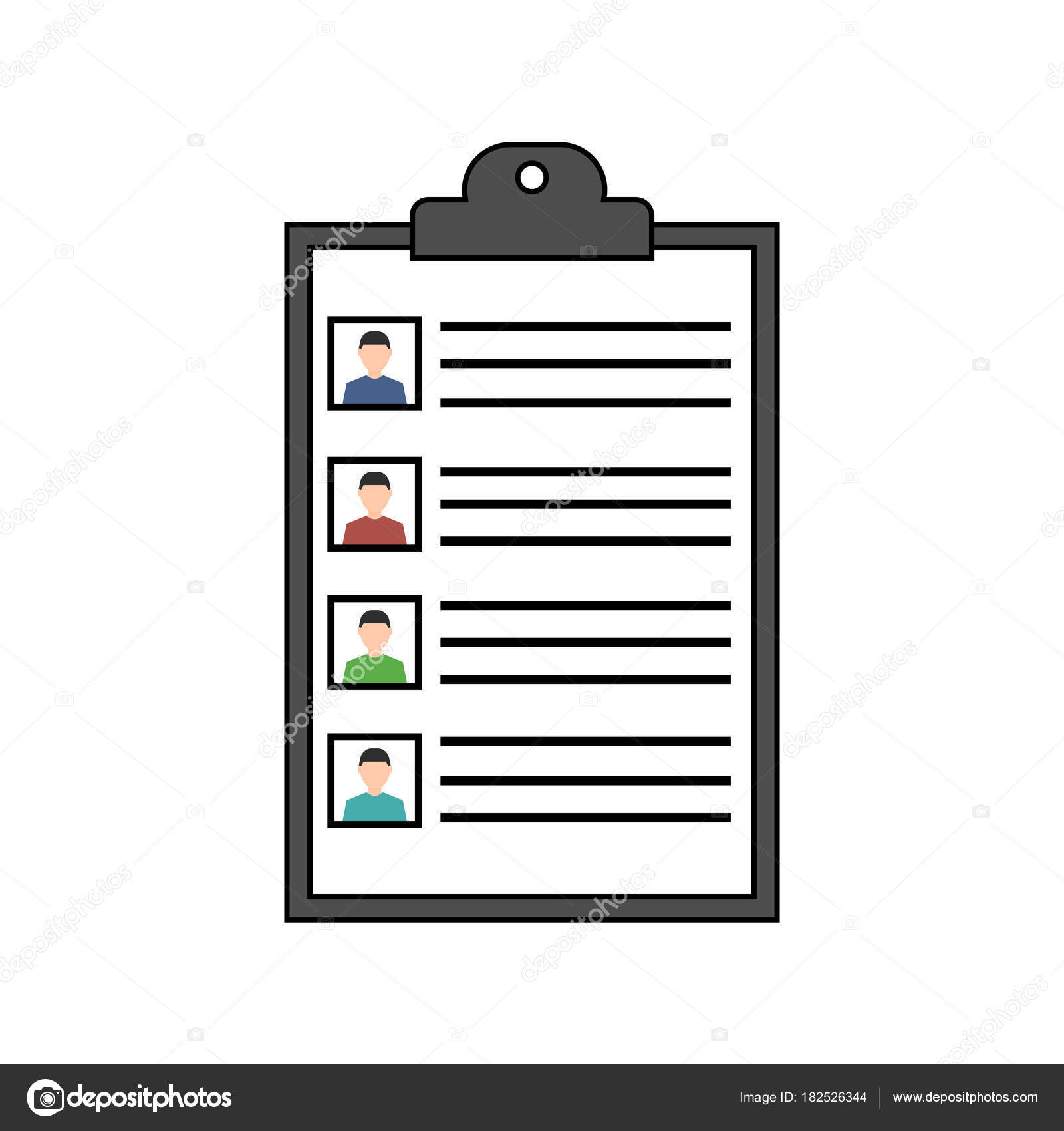Concepto de resumen. Icono de vector reanudar. Reclutamiento ...