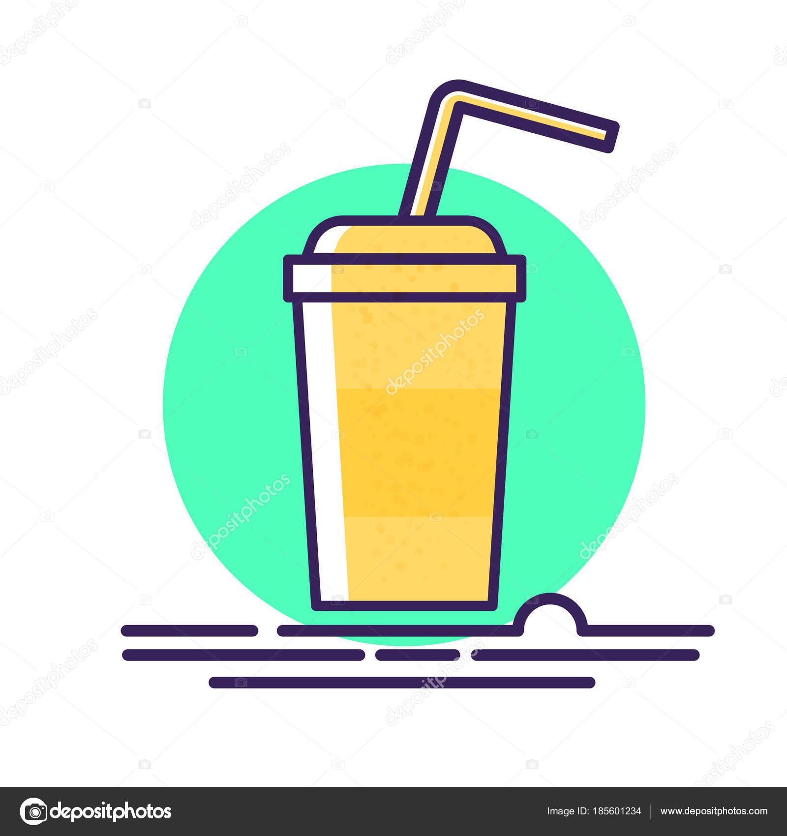 プラスチックのストロー ベクトル イラスト漫画紙コップ冷たい飲み物