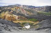 Icelandic landscape - panoramic view on amazing valley