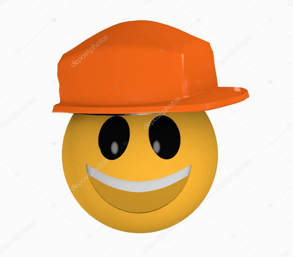 Laughing emoji render | Risa emoticonos con casco de ...