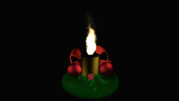 Adventskranz mit brennenden Kerze