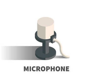 Microphone icon, vector symbol.