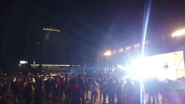 Lighting at street concert in Tirana
