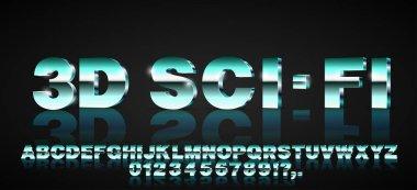 3d sci-fi font