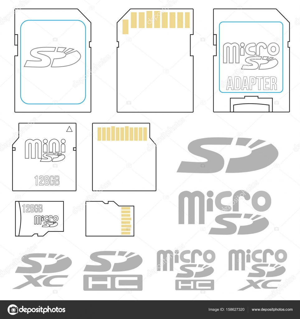 Sd card symbols stock vector iunewind 158627320 sd card symbols stock vector pooptronica Choice Image