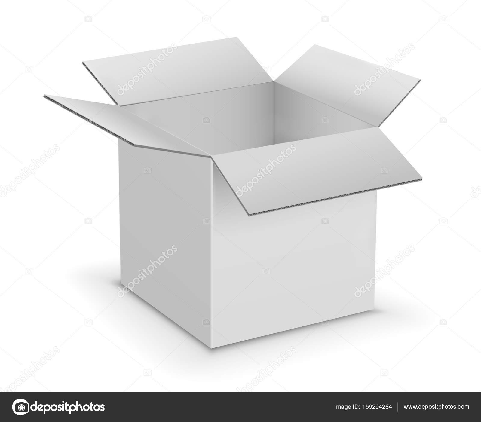 Plantilla de cajas de cartón blancas — Archivo Imágenes ...